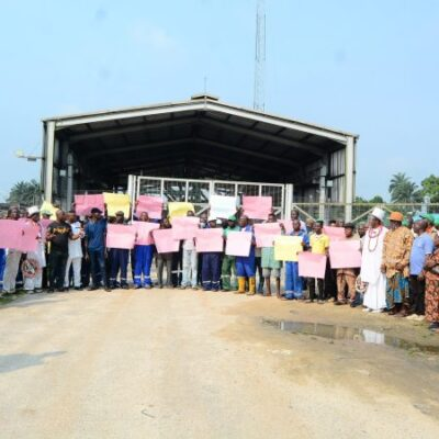 Delta Community Protest Non Payment Of Entitlements By Heritage Oil